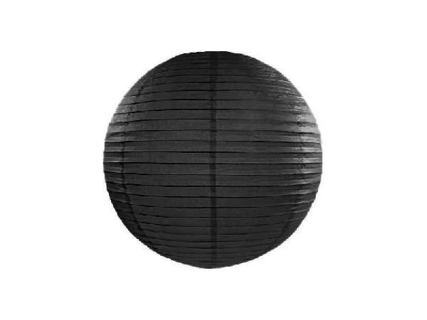 fekete papír lampion gömb 35 cm-es