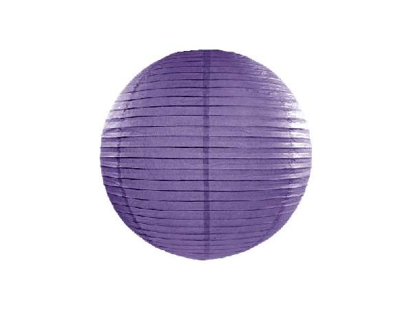 sötétlila papír lampion gömb 35 cm-es (014)