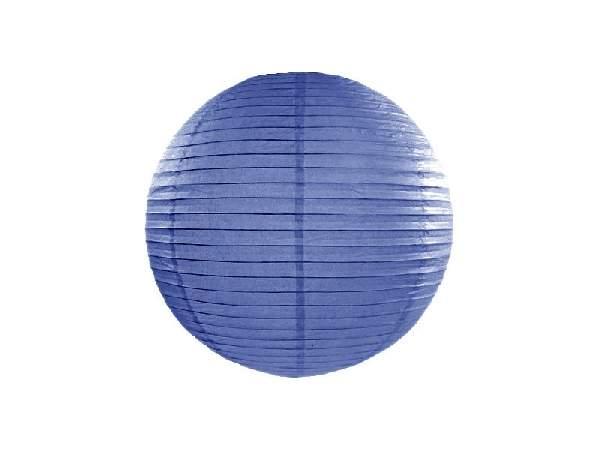 királykék papír lampion gömb 35 cm-es (074r)