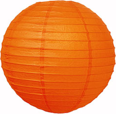 narancs papír lampion gömb 30 cm-es