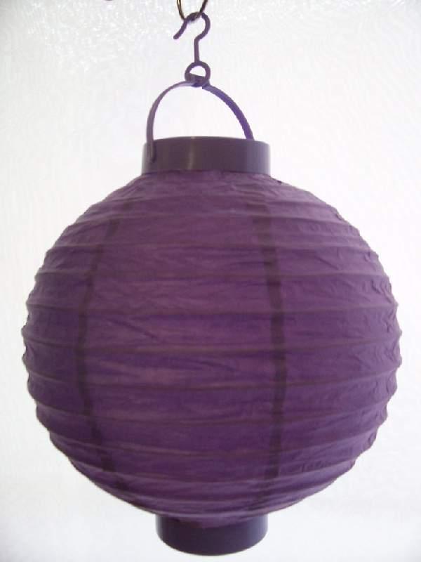 Lampion gömb világító s.lila (20 cm)