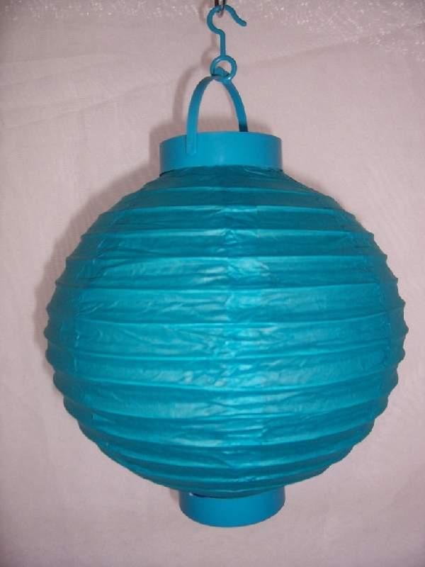 Lampion gömb világító világoskék (20 cm)