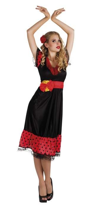 Spanyol női farsangi jelmez (M méret)-87220