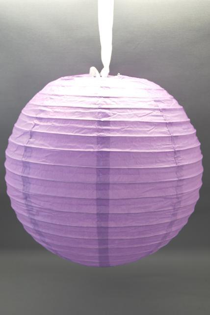 lila papír lampion gömb 40 cm-es