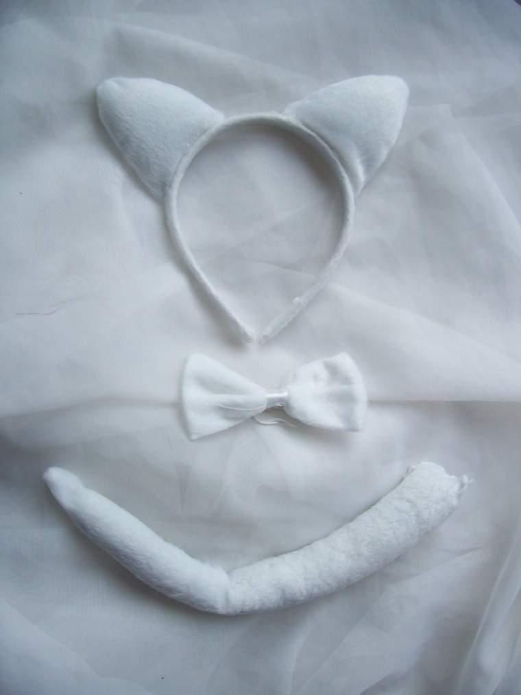cica szett 3 részes (fehér)