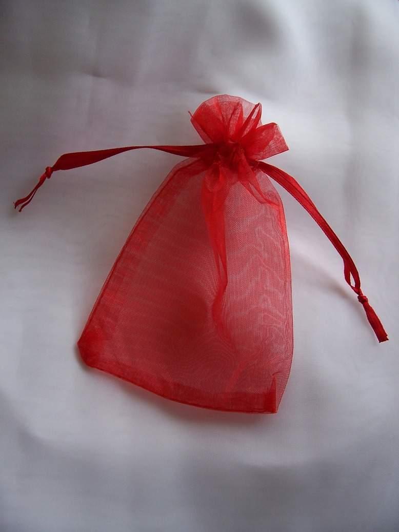 Organza tasak 32*26 cm piros