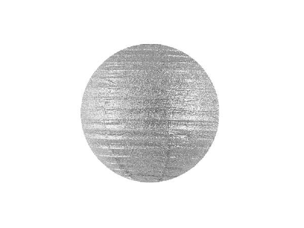 ezüst, glitteres papír lampion 30 cm-es