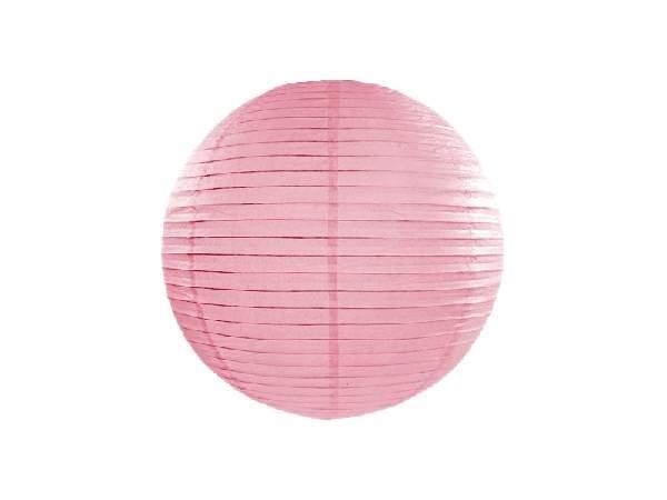 rózsaszín papír lampion gömb 30 cm-es