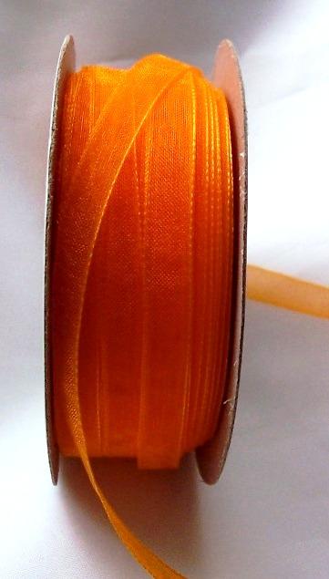 organza szalag 0,6 cm x 22,86 m, narancs-021