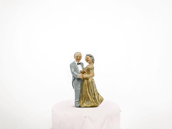 50. házassági évfordulós tortadísz (12 cm)- pf50