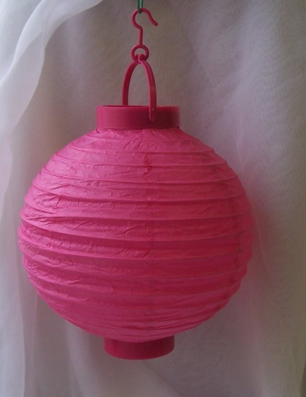 Lampion gömb világító pink (20 cm)