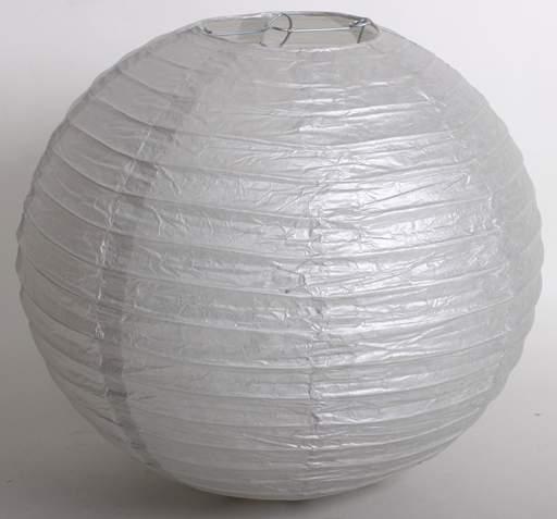 ezüst papír lampion gömb 30 cm-es