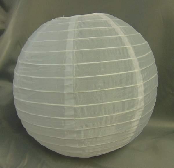 fehér organza lampion (30 cm)