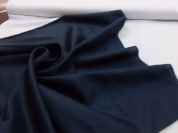 sötétkék/tengerészkék selyem dekoranyag 150 cm széles (méterre)