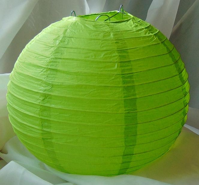 élénkzöld papír lampion 20 cm-es -102J