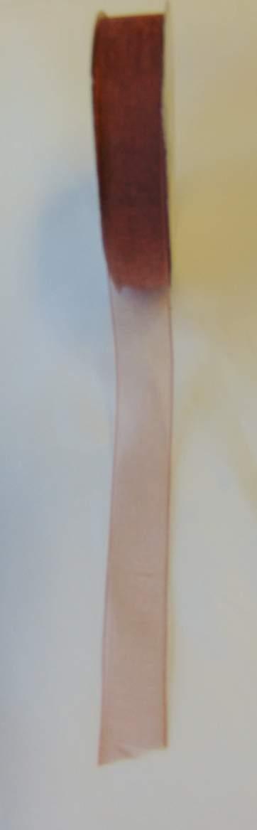 organza szalag 1,5 cm x 22,86 m,bronz (472)