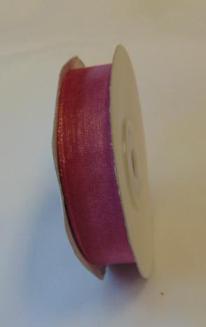 organza szalag 1,5 cm x 22,86 m,mályva (186)
