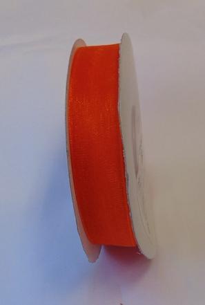 organza szalag 1,5 cm x 22,86 m,narancs (021)