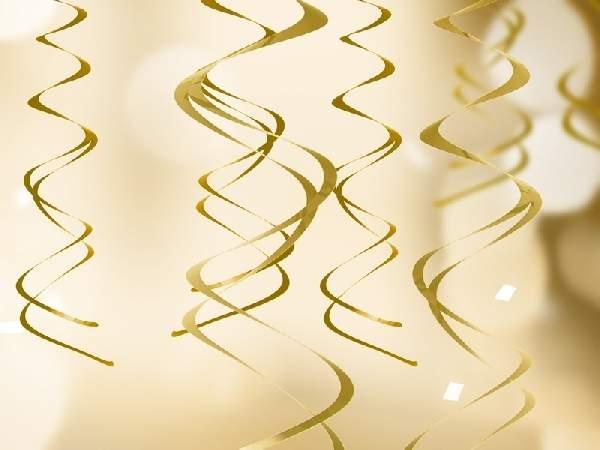 arany függődísz , 5 részes (kb. 60 cm)