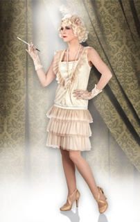 Charleston női farsangi jelmez, 44-46 méret-85011