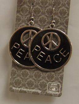 fülbevaló hippie (peace)