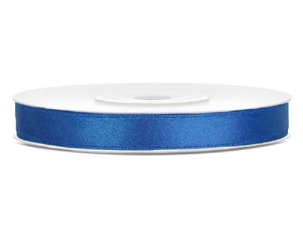 0,6 cm-s szatén szalag (25 m) királykék-074R