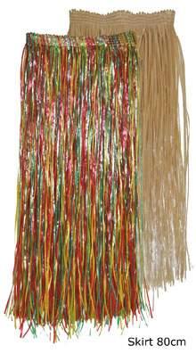 hosszú hawaii szoknya natúr színben (52401-B)-80 cm-es