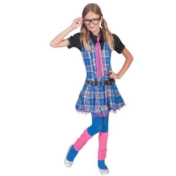 Iskolás lány gyerek farsangi jelmez, 164 méret ( E-403133)
