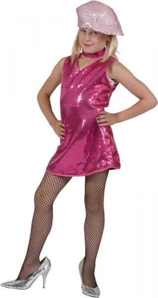Disco lány gyerek farsangi jelmez 140 méret (E-408274)