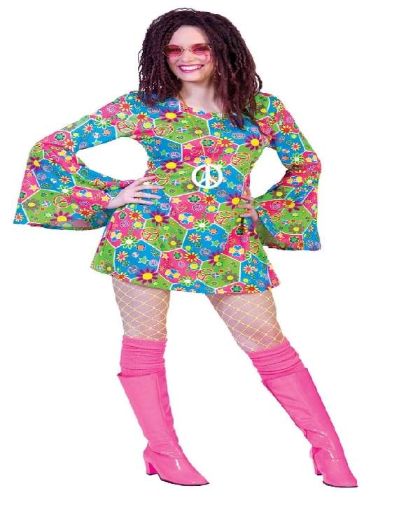 Hippie női farsangi jelmez 44-46 méret , E-508299