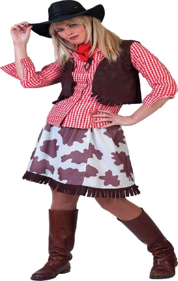 Cowgirl női farsangi jelmez, 34-s méret (E-513004)