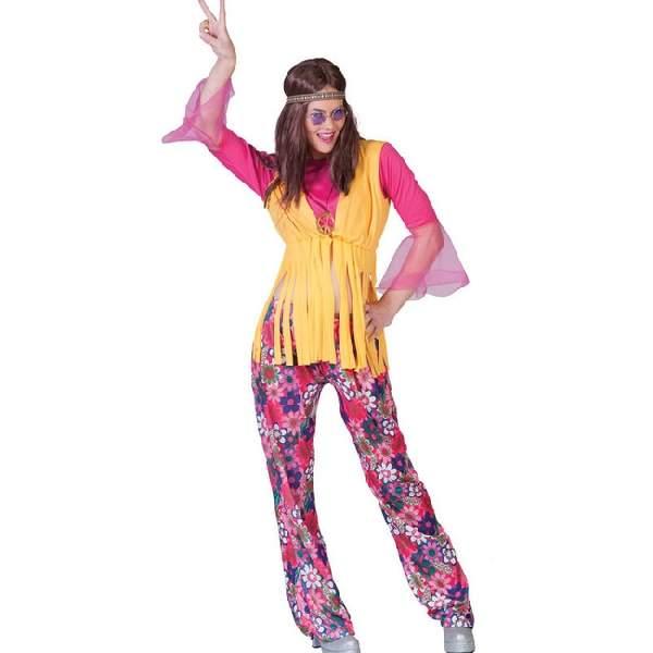 hippie női farsangi jelmez (42  méret)-(E-513006)