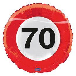 Évszámos fólia lufi 70. közlekedési tábla