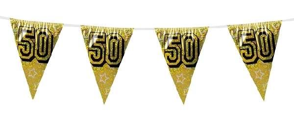 zászlógirland 50. (8 méter)- arany