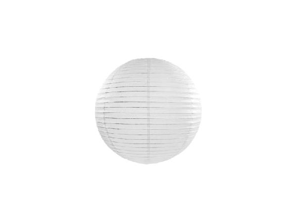 fehér papír lampion 30 cm-es