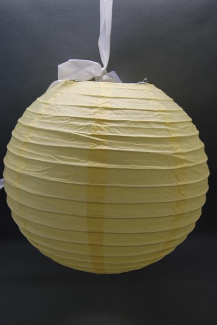 krém papír lampion 30 cm-es