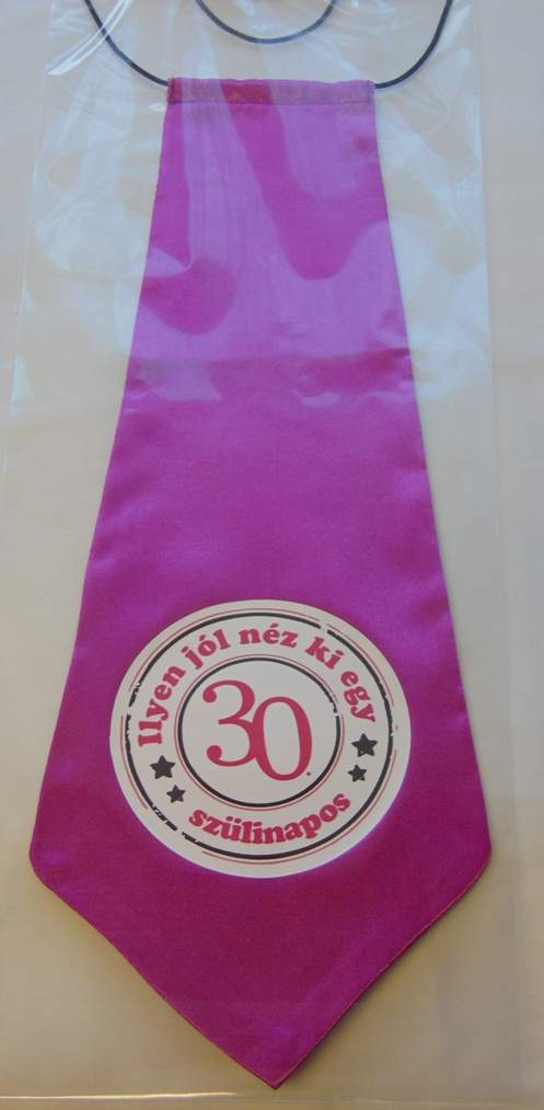 nyakkendő 30.szülinapra, pink