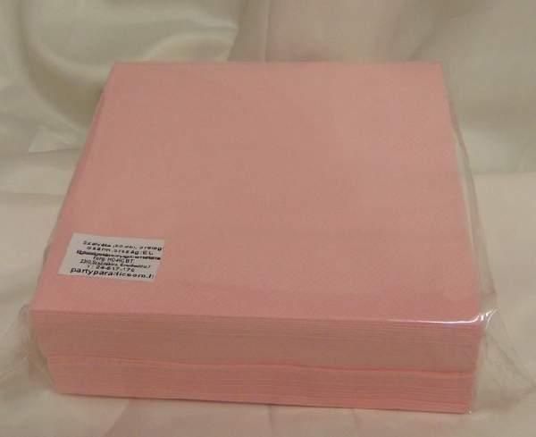 33*33 cm rózsaszín szalvéta (50 db), 3 rétegű