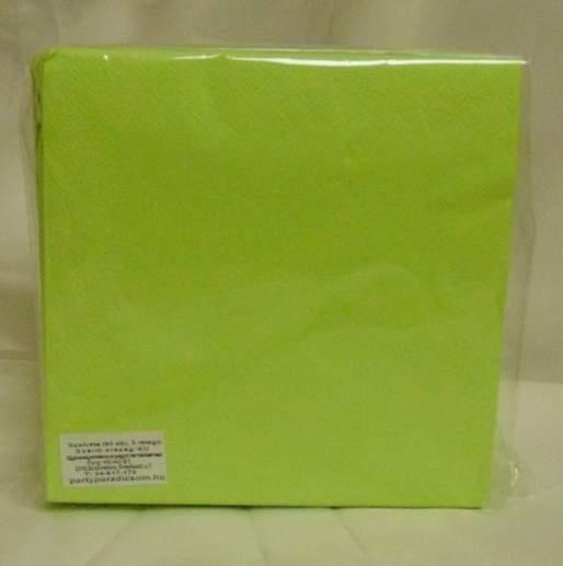 33*33 cm élénkzöld szalvéta (50 db), 3 rétegű