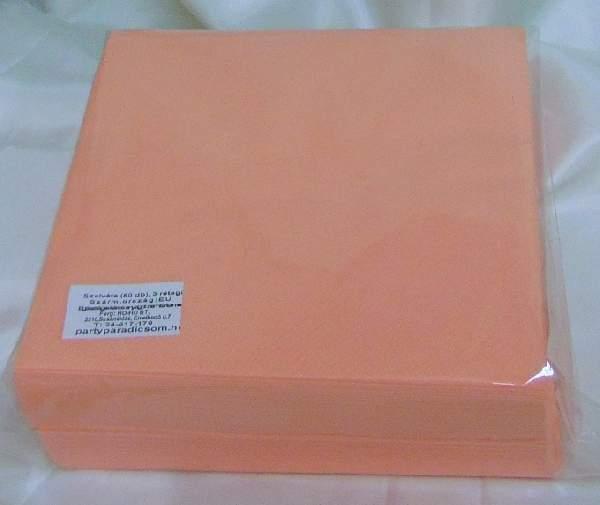 40*40 cm barack szalvéta (50 db), 3 rétegű
