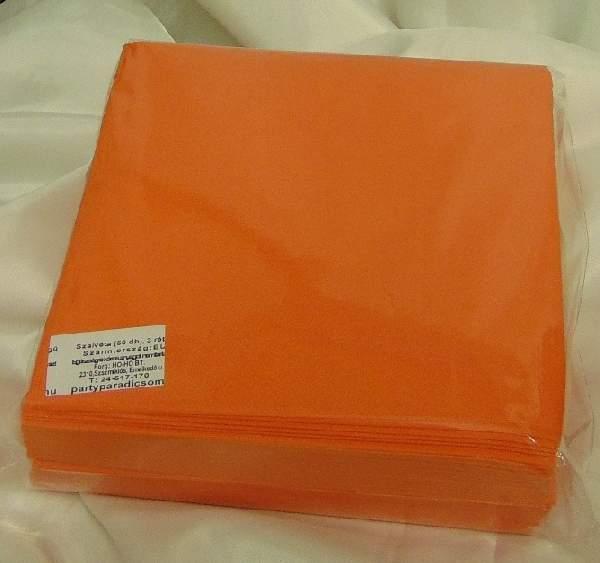 40*40 cm narancs szalvéta (50 db), 3 rétegű