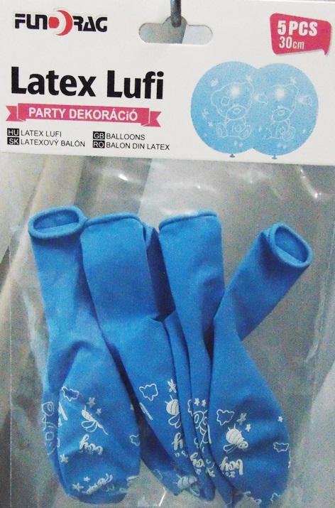 Baba születéses gumi lufi, fiú, 5 db-21007