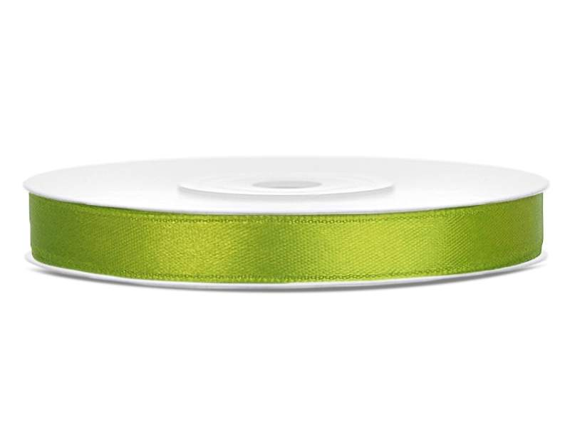 0,6 cm-s szatén szalag (25 m) fűzöld (102J)
