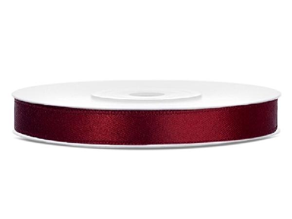 0,6 cm-s szatén szalag (25 m) bordó (082)