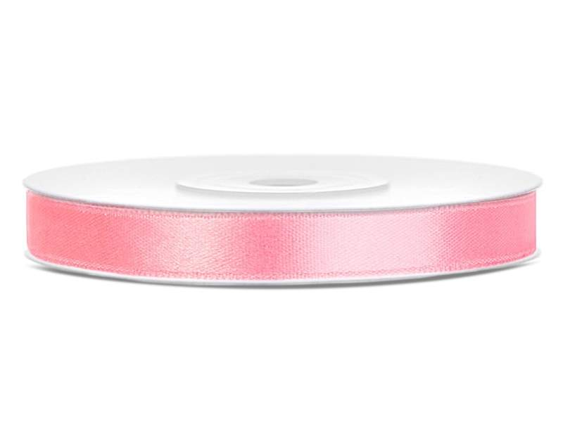 0,6 cm-s szatén szalag (25 m) v.rózsaszín (081J)
