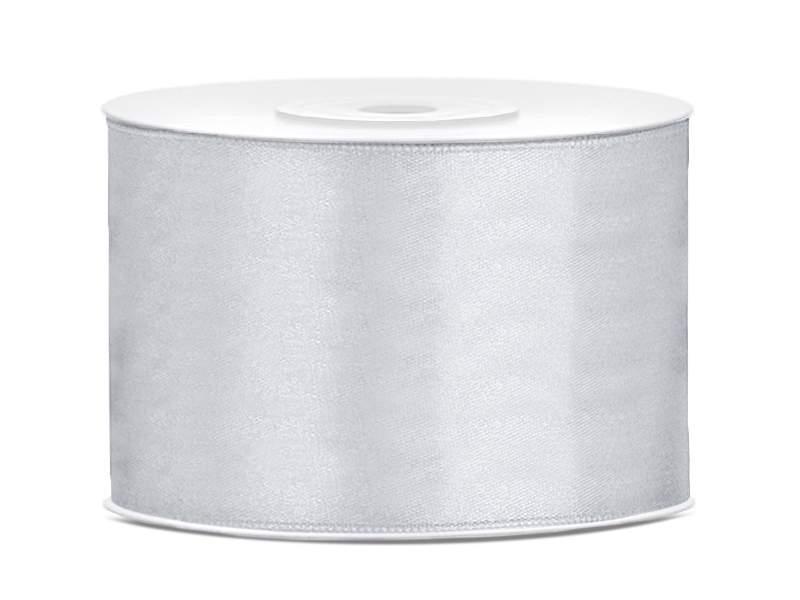 5 cm-s szatén szalag (25 m) világos ezüst (018)