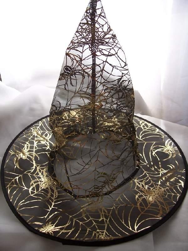 boszikalap fekete arany pókhálóval