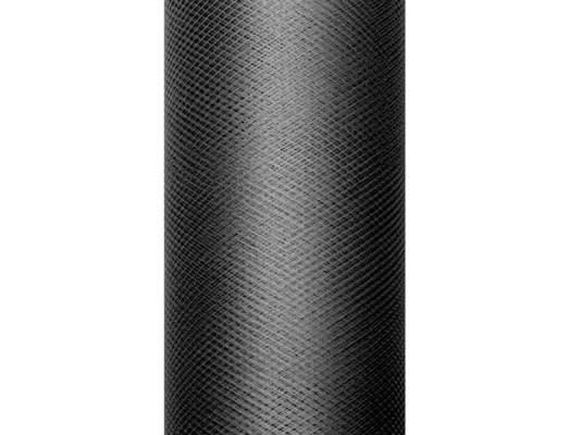 fekete tüll dekoranyag(15 cmx9 m) -(010) - puha