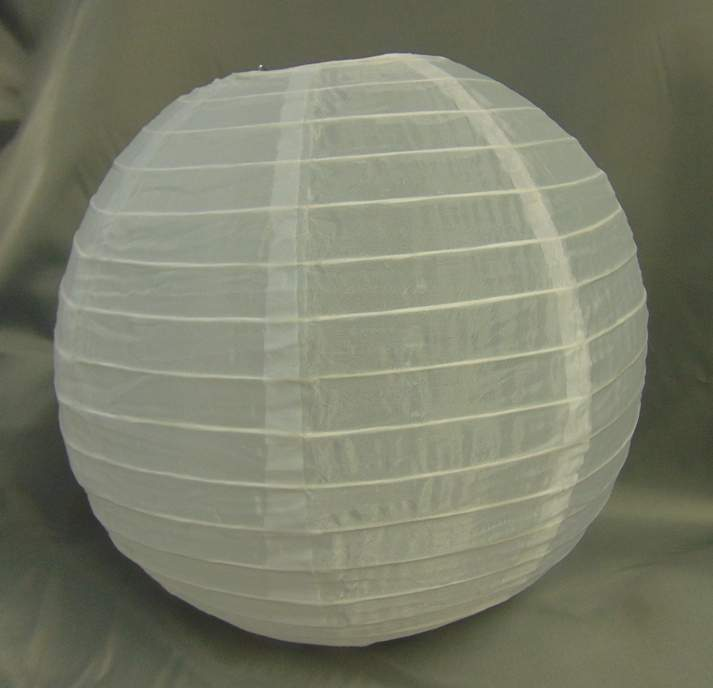 fehér organza lampion (20 cm)