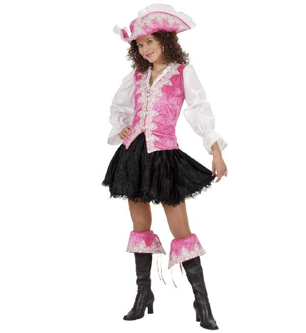 kalóz női farsangi jelmez, rózsaszín (S- 36 méret) - 57981